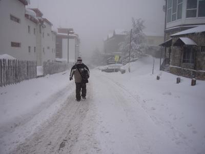 En el mes de enero de 2009 nos pilló una nevada tan grande que entiendo lo mal que se sentían Shelley Duval y Jack Nicholson en el hotel Overlook en El Resplandor